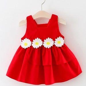 Other - Red Sleeveless Flower Sundress